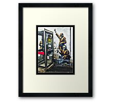 Government listening post by Banksy! Framed Print