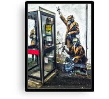 Government listening post by Banksy! Canvas Print