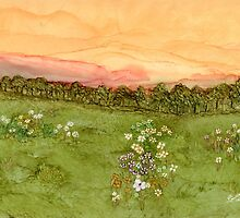 Sunset in the Valley by Linda Ginn Art