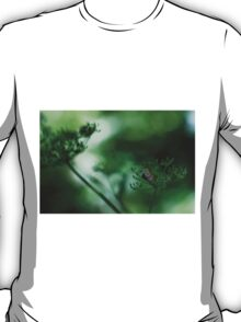 Leaf Fall On Cow Parsley. Jupiter 9 on EOS 7D T-Shirt