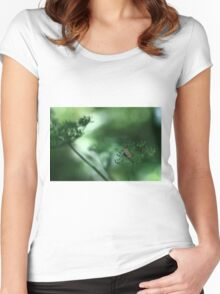 Leaf Fall On Cow Parsley. Jupiter 9 on EOS 7D Women's Fitted Scoop T-Shirt