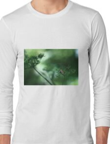 Leaf Fall On Cow Parsley. Jupiter 9 on EOS 7D Long Sleeve T-Shirt