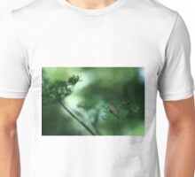 Leaf Fall On Cow Parsley. Jupiter 9 on EOS 7D Unisex T-Shirt