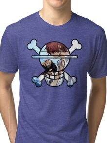 <ONE PIECE> Shanks One Piece Skull Style Tri-blend T-Shirt