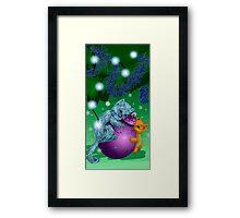 Sweet New Year kittens Framed Print