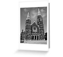 St. Joseph Church (Black and White) Greeting Card