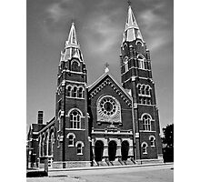 St. Joseph Church (Black and White) Photographic Print