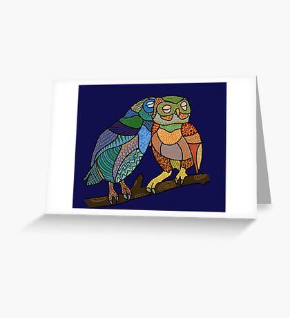 Owl Snuggles Greeting Card