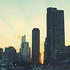 Navy Pier Sunset by Deborah Thomes