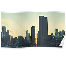 Navy Pier Sunset Poster