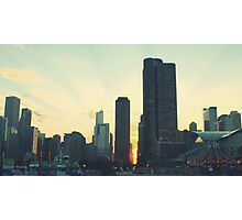 Navy Pier Sunset Photographic Print