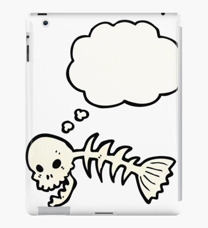 cartoon skeleton fish bones iPad Case/Skin