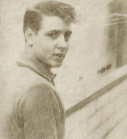 Eddie Cochran Vintage Singer Sticker