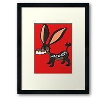 JACK-ASS Framed Print