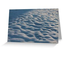 Snowy Lumps Greeting Card