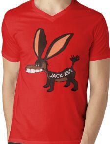 JACK-ASS Mens V-Neck T-Shirt