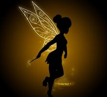 Tinkerbell Silhouette by Ashley Thompson