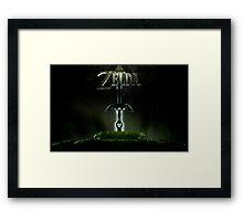 Zelda Master Sword Framed Print