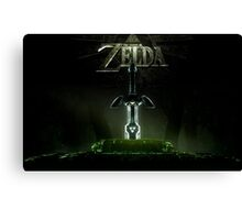 Zelda Master Sword Canvas Print
