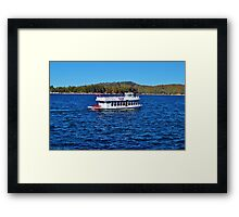 FUN DAY TOUR ON LAKE ARROWHEAD Framed Print