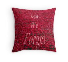 Poppies at The Tower of London - Lest we forget Throw Pillow