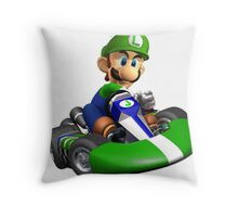 Luigi Kart Throw Pillow