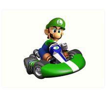 Luigi Kart Art Print