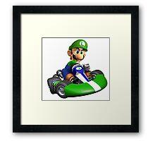 Luigi Kart Framed Print