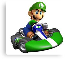 Luigi Kart Canvas Print