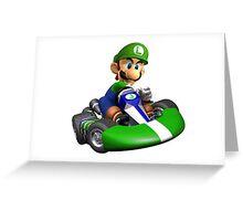 Luigi Kart Greeting Card