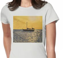 Sails in the Sunset Womens Fitted T-Shirt