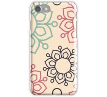 Ethnic Ornament With Floral Ornament iPhone Case/Skin