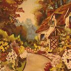 Old English Cottage by Gilberte