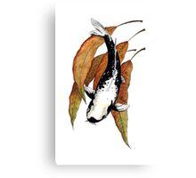 Japanese Koi Kawarimono Autumn Water  Canvas Print