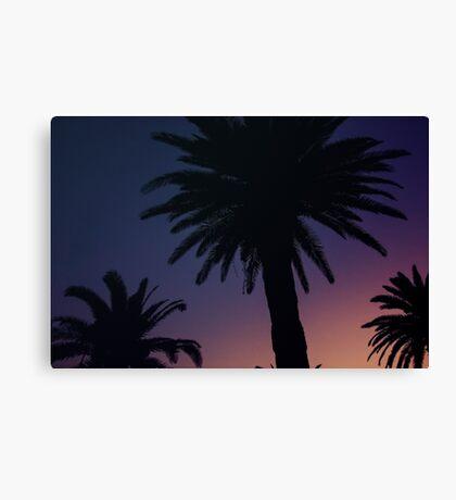 Dark Background with Sunset Sky Canvas Print