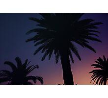 Dark Background with Sunset Sky Photographic Print