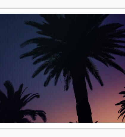 Dark Background with Sunset Sky Sticker