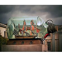 Ship in a Bottle Photographic Print