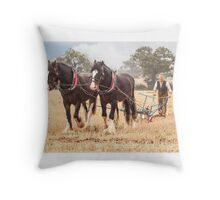 Long day ahead  Throw Pillow