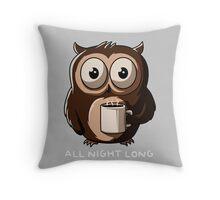 Owl night Throw Pillow