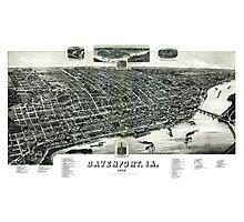 Davenport - Iowa - 1888 Photographic Print