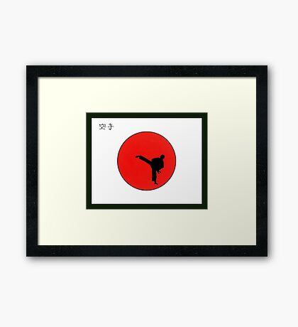Art Of Karate Print Framed Print