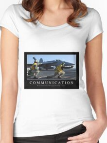 Communication: Inspirational Quote and Motivational Poster Women's Fitted Scoop T-Shirt