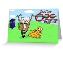 Doctor Ooo: Adventure Timelord Greeting Card