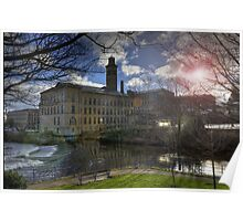 Salts Mill By The River Poster