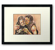 Mary's Kiss Framed Print