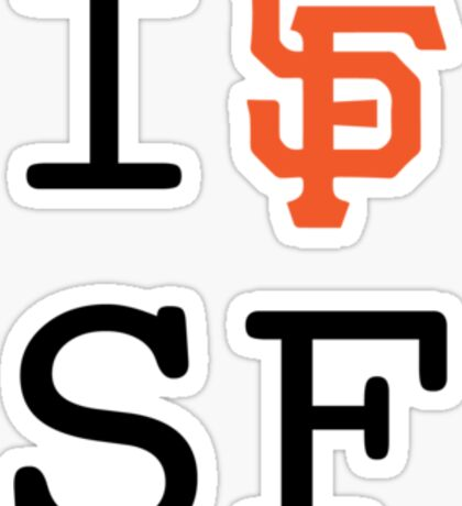 I SF SF Sticker