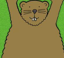 Groundhog Day Birthday February 2nd Sticker