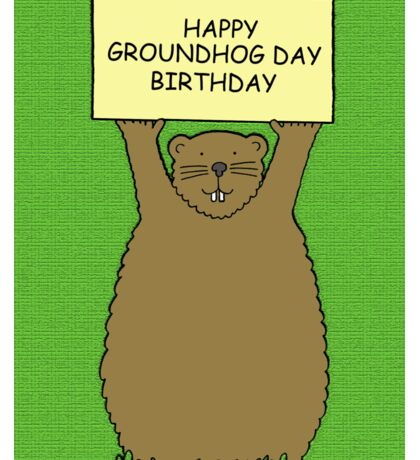 Groundhog Day Birthday February 2nd Sticker