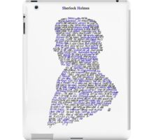 Sherlock in his own words iPad Case/Skin
